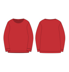 Sportswear in red color sweatshirt isolated on vector