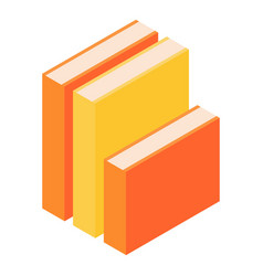 stack of books icon isometric style vector image