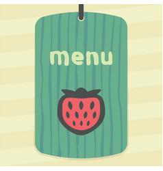 strawberry fruit icon modern infographic logo vector image