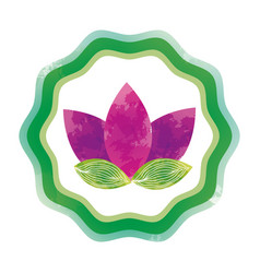 Symbol flower watercolor paint vector