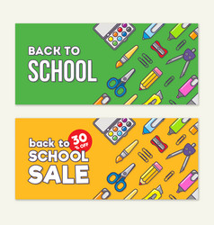 template of back to school sale vector image