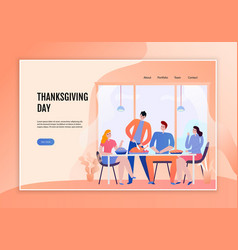 thanksgiving day web banner vector image