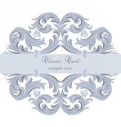Vintage Baroque card vector image