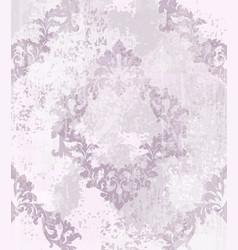 vintage damask pattern ornament royal vector image