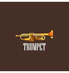With diamond trumpet icon vector