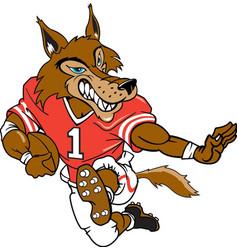 Wolf sports logo mascot football vector