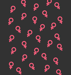 women symbols on black vector image