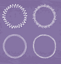Wreaths Collection vector image