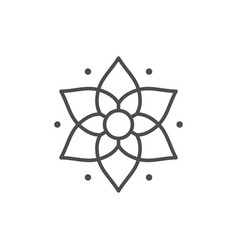 yoga or lotus line outline icon vector image