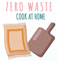 Zero waste concept wooden equipment for cooking vector