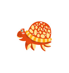 cute turtle funny sea creature hand drawn vector image