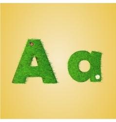 grass letter alphabet vector image vector image