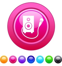 Karaoke circle button vector image