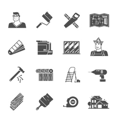 Renovation Icons Set vector image vector image