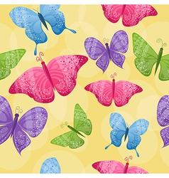 Seamless butterflies background vector image