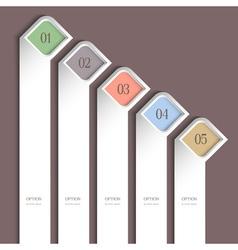 Trendy vertical design template vector image vector image