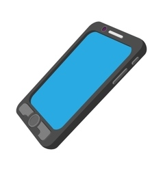 Black mobile phone cartoon icon vector image vector image