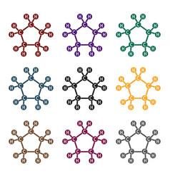 chemical oil formulaoil single icon in black vector image