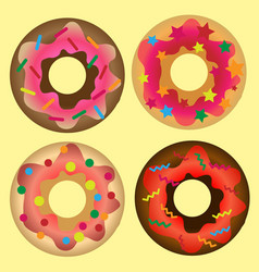doughnut set vector image