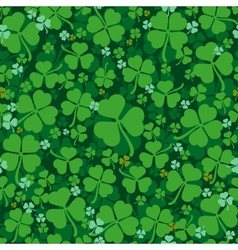 Green leaves clover seamless pattern Lucky Clover vector image vector image