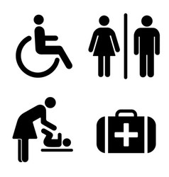 set of icons for wc vector image