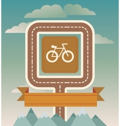 template with cicycle and road vector image