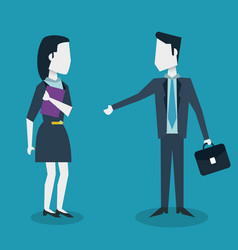 Colorful background of meeting businesswoman and vector