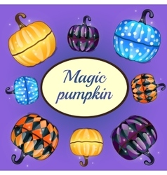 Magic pumpkin and oval space for text vector image vector image
