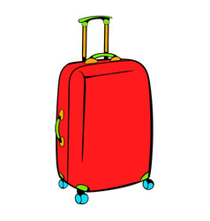 red travel suitcase icon icon cartoon vector image