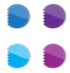 Set of violet and blue banners vector image vector image