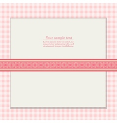 Vintage pink background for invitation card vector image