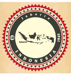 Vintage label-sticker cards of Indonesia vector image vector image