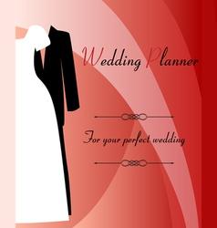 Wedding planner background vector image vector image