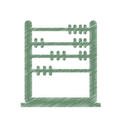 abacus education isolated icon vector image