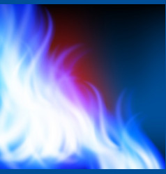 abstract rainbow blue fire background vector image