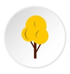 Autumn tree icon flat style vector image
