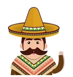 Avatar mexican man cartoon vector