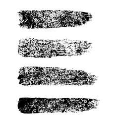 black paint ink brush stroke brush line vector image