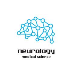 brain neurology medical science logo vector image