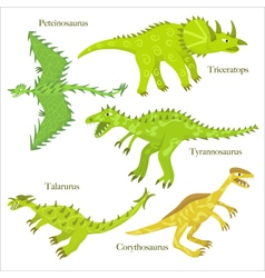 Cartoon dinosaurus vector image