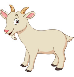 Cartoon funny goat isolated on white background vector