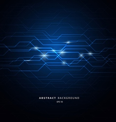Circuit blue background vector