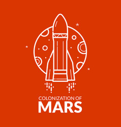 colonization of mars vector image