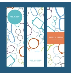 Colorful glasses vertical banners set vector