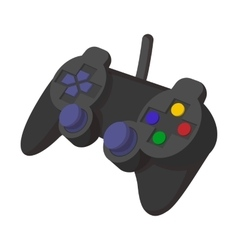 Console joystick cartoon icon vector image