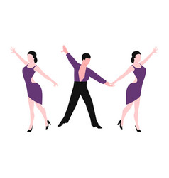 couples dancing latin american romantic person and vector image