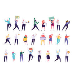 creative various people professional character set vector image