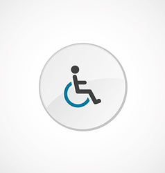 cripple icon 2 colored vector image