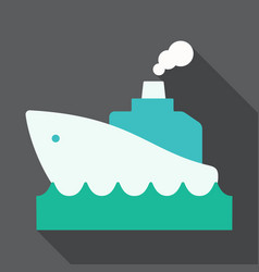 cruise ship retro styled cruise ship on the ocean vector image