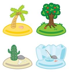 cute cartoon islands vector image